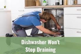 dishwasher won t stop draining ready