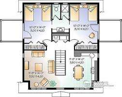 2nd Level Garage Apartment Plan, 2 Bedrooms With Jack And Jill Bath And  Private Balconies