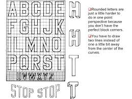 Block Letters On Graph Paper With Lines Google Search