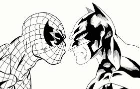 Small Picture Coloring Pages Spiderman And Batman Cartoon Coloring pages of