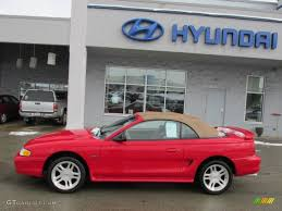1998 Vermillion Red Ford Mustang GT Convertible #76873657 Photo #4 ...