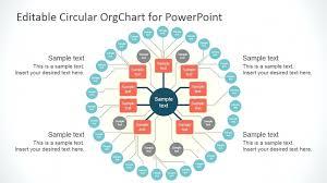 010 Template Ideas The Horizontal Organizational Chart Slide