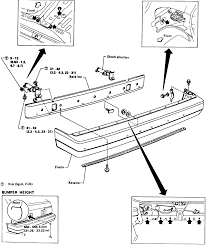 2 rear bumper assembly exploded view 1982 86 sentra