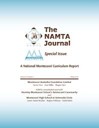 highlighted publications  37 1 a national montessori curriculum report