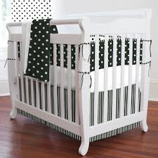 dots stripes partened black and white bedding set combined white wooden baby crib the best