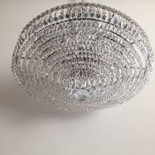 mid 20th century strauss waterfall crystal hollywood regency chandelier for