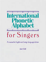 Polish your personal project or design with these international phonetic alphabet transparent png images, make it even more personalized and more attractive. International Phonetic Alphabet For Singers A Manual For English And Foreign Language Diction Wall Joan 8601422517361 Amazon Com Books