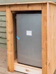 Refrigerator Outdoor How To Build An Outdoor Minibar Hgtv