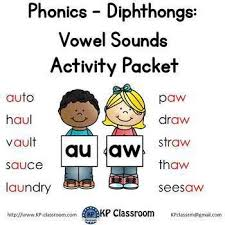 Share this page to google classroom. Diphthong Au Aw Vowel Sounds Activity Packet And Worksheets By Kp Classroom