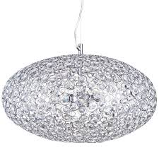 ovii 3 light bathroom ceiling pendant chrome glass free delivery