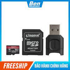 Thẻ nhớ micSDXC Kingston Canvas React Plus cho quay video UHS-II 4K/8K,  Flycam HD 64Gb MLPMR2/64GB - BEN