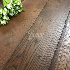 190mm tumbled edge coffee brushed and lacquered engineered european oak wood flooring 20 6mm thick