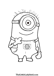 Small Picture Free Minions Coloring Pages TheLittleLadybirdcom