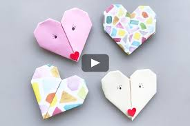 show someone that you love them with this sweet origami heart perfect for valentine s or any day that you want to share the love in only a few steps