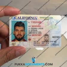 Pukka Documents - Id Card Fake California