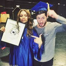 Zendaya Graduates From High School With Former Dwts Partner Val