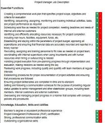 Project Manager Job Description Responsibilities Of A Project Manager Custom Paper Example