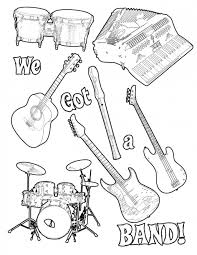 Printable Music Coloring Pages For Kids With Free Printable Music