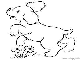 Small Picture Dog Coloring Pages For Kids Free Printable Puppy Coloring Pages