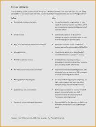 Resume Job Description Bullet Points New Skills Description For
