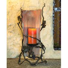 iron tile candle holder by bella toscana