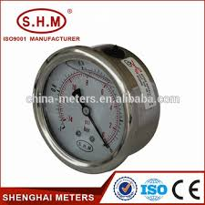 gas manometer. lpg/cng gas pressure gauge manometer with crimped ring p