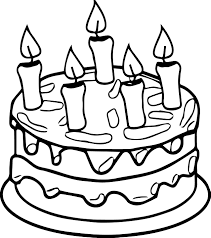 Small Picture Birthday Cake Coloring Page Coloring Coloring Pages