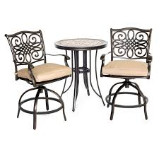 3 piece patio bar set. Beautiful Set Full Size Of Bar Height Round Patio Table Allen Roth Safford 40 In  Stone  On 3 Piece Set