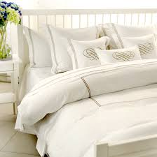 image of gold and white bedding
