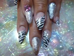 ゼブラダルメフット蛇柄フットヒョウ柄nail Jewelrynail