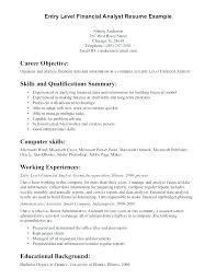 Entry Level Finance Resumes Data Analyst Resume Template Entry Level