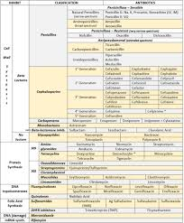 Antibiotic Chart For Nurses Mynotes4usmle Antibiotics Cheat Sheet Also Remember