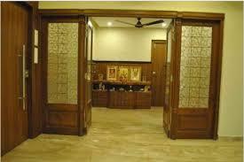 glass and wood door design