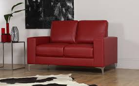 baltimore 2 seater leather sofa red