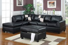 black leather sectional sofas. Contemporary Leather April Black Leather Sectional Sofa And Ottoman And Sofas T