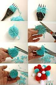 diy fork pom poms pictures photos and