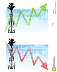 Oil Drilling Rig With Charts Stock Illustration