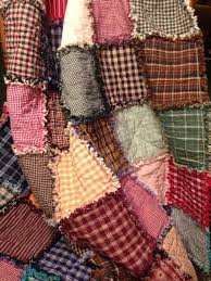 163 best Rag Quilts images on Pinterest | Country quilts, Crafts ... & Homespun and Cotton Rag Quilt ~ Beautiful Primitive Look Homemade Adamdwight.com