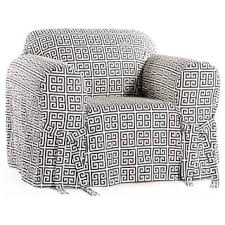 gray armchair slipcover. classic slipcovers geo print 1-piece chair slipcover gray armchair