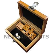 Wooden Box Board Games WAM Mini Shut the Box Board Game Set Wood Number Drinking Games 10