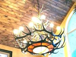 faux antler chandelier small deer chand