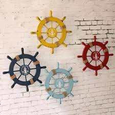 captains wheel decor wooden ship wheel decor nautical beach wooden boat ship steering wheel home wall