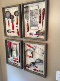 Small Picture old vintage wooden and wire kitchen utensils on display as art