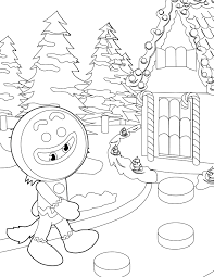 Small Picture Gingerbread Man Coloring Page Handipoints Within Winter Wonderland