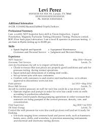 ndt resume samples institut de soudure industrie ndt inspector resume sample