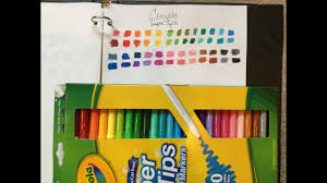 Crayola Supertips 50 Color Chart Crayola Super Tips Marker Swatches 50 Pack
