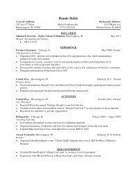 Iu Resume Template