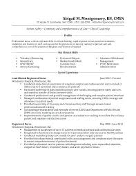 Medical Surgical Nurse Resume Professional Resume Templates