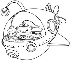Small Picture Disney Coloring Pages Octonauts Coloring For Kids Disney Coloring