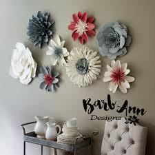 Paper Flower Designs Pink Gray Cream Paper Flower Set